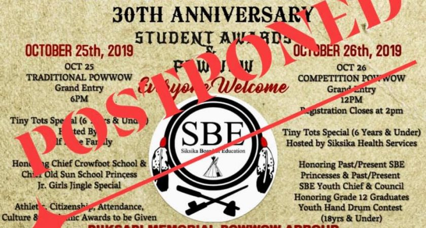 SBOE Annual Powwow 2019/2020 Postponed